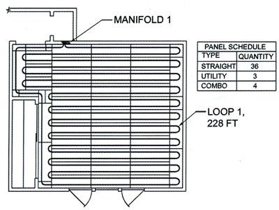 Pex radiant floor heating design carpet vidalondon for Radiant floor layout
